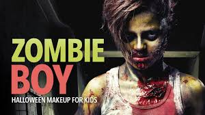 zombie boy halloween makeup for kids youtube
