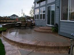 Stained Concrete Patio Images by Should You Choose Concrete Stamping Or Staining The Stamp Store