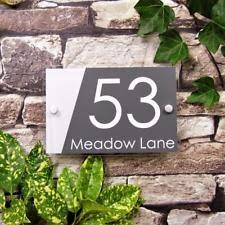 glass door number signs acrylic house name home décor plaques u0026 signs ebay