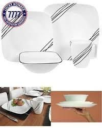 corelle square 16 piece dinnerware set midnight garden service