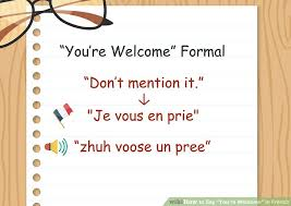 What Does Meme Mean In French - easy ways to say you re welcome in french wikihow