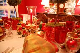 Christmas Topiaries Table Setting Tablescape With Topiary Centerpiece