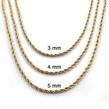necklace rope images Goldplated stainless steel twist rope chain necklace free jpg