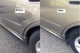 nissan sentra quarter panel car dent repair examples before u0026 after paintless dent repair