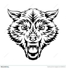 wolf head illustration 28065122 megapixl