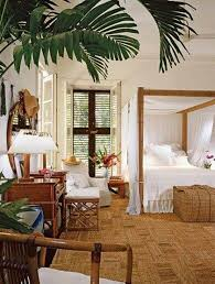 Bedroom Design English Style Tropical Bedroom Decoration With Bamboo Canopy Bed Tropical
