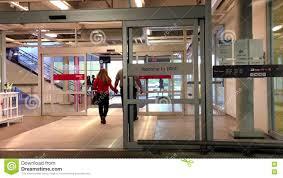 entrance glass door entrance automatic glass door stock footage video 72114572