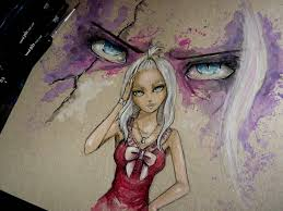 mirajane strauss watercolor time lapse painting fairy tail
