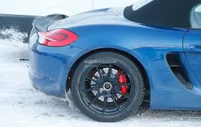 porsche ducktail porsche boxster prototype spied with ducktail and manual rs