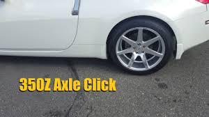 nissan 350z drive shaft nissan 350z infiniti g35 axle shaft click fix the z shop youtube