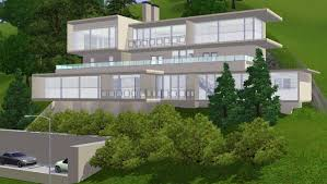 modern house on a slope