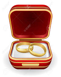 wedding rings in box gold wedding rings in box royalty free cliparts vectors and