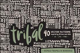 handmade tribal pattern pack patterns creative market