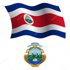 Flag Costa Rica Costa Rica Wavy Flag And Coat U2014 Stock Vector Robertosch 29746253