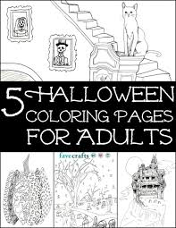 5 free halloween coloring pages for adults pdf favecrafts com