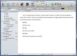Scrivener Resume Template Creating A Story Bible With A Free Template In Tv A Story