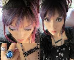 show me hair colors new dark purple dyed hair color style nhk kawaii tv shoot at