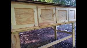 Cheap Rabbit Hutch Slideshow Of The Making A 4 Bay Rabbit Hutch Youtube