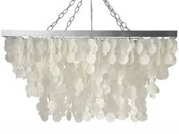 Capiz Light Pendant Kouboo 3 Light Drop Capiz Pendant L Reviews Wayfair