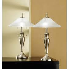 Brushed Steel Desk Lamp Table Lamp Set