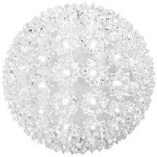 100 cool white bulbs starlight sphere 7 5 in