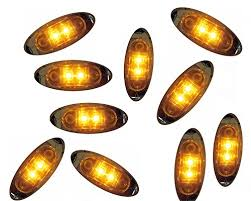 pack of 10 oval led clearance side marker light with clear