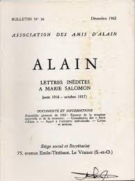 siege social salomon alain lettres inédites à salomon août 1916 ocobre 1917