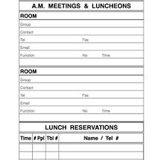 Restaurant Reservation Sheet Template Reservation Books