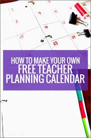 teacher planning calendar template lsfod beautiful how to make