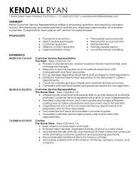 Resume Summary Examples Sales Examples Of Customer Service Resume Customer Service