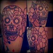 sugar skull u0027n u0027 dahlia tattoo by artisticrender on deviantart