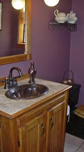 Copper Bathroom Faucet by A Customer Remodeled Her Bathroom With Our Dark Smoke Copper Sink