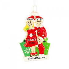 expecting family personalized ornament and city