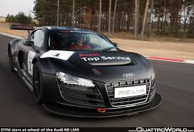 dtm stars at wheel of the audi r8 lms quattroworld