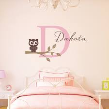 Nursery Wall Decals For Girls by Personalized Name Wall Decals For Nursery Color The Walls Of