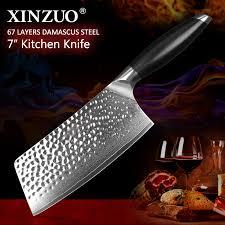 couteau chinois cuisine xinzuo 7 pouce à découper couteau 67 couches japonais damas acier