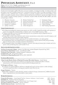 physician assistant resume template doctor resume template doctor resume templates free sles