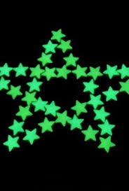 Star Decals For Ceiling by Amaonm 100 Pcs Green Glow In The Dark Luminous Stars Fluorescent