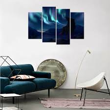 northern lights canvas wolf under the aurora polaris wall art for northern lights canvas wolf under the aurora polaris wall art for home decoration wall mural hd picture contemporary painting in painting calligraphy from