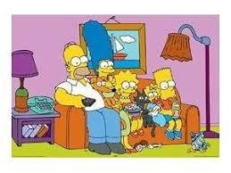 dans le canapé poster avec les dans le canapé par deco simpsons