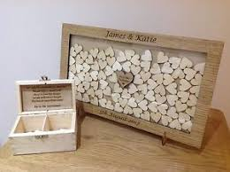wedding guest book personalised drop box oak frame wedding guest book ebay