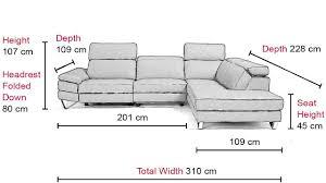 Sofa Seat Depth by Metzo Corner Chaise Sofa Vavicci Fine Home Furniture U0026 Accessories