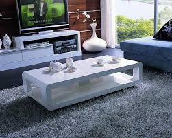 Modern White Coffee Table Appealing White Coffee Tables With High Gloss White Modern Swivel
