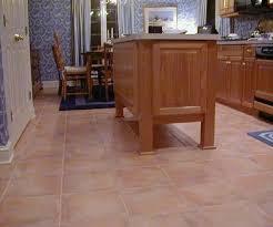 terra cotta ceramic floor tile makes for a kitchen