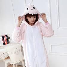 pink dinosaur unisex pajamas costume animal onesies family fitted