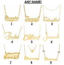 ebay name necklace images Gold name necklace ebay jpg