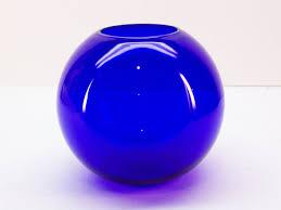 Cobalt Blue Vases Cobalt Blue Glass Bowl Vase With The Addition Of A Tealight