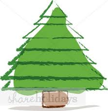 large brown christmas tree brown christmas tree christmas tree clipart