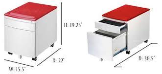 2 Drawer Rolling File Cabinet Smart Jr 46 2 Drawer Mobile Filing Cabinet Red White Childrens