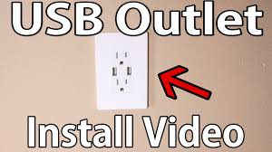 how to install usb wall outlet youtube